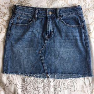 Pacsun Light Wash Hi Rise Denim Mini Skirt Size 26